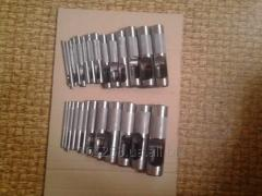 Set of punches of 26 pieces for skin