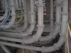 The steel lined pipes