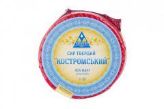 El queso firme sychuzhnyy De Kostromá 45 %...