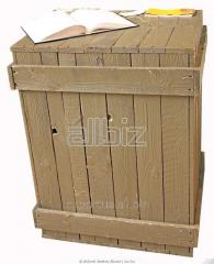 Package made of wood from softwood for export