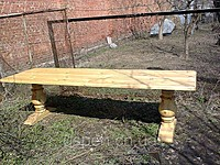 Table wooden for giving and a garden