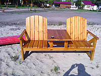 Dacha and beach table bench