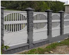 Заборы бетонные двусторонние комбинированные