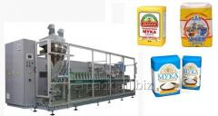 Packing and packing of flour of sugar in ready