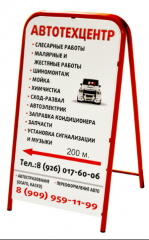 Portable billboards, pavement signs