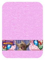 Рушник  з транс.борд. 50х90 непоседа глория мадагаскар рожевий