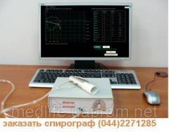 Computer spirocount breath monitor