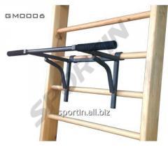 Horizontal bar hinged