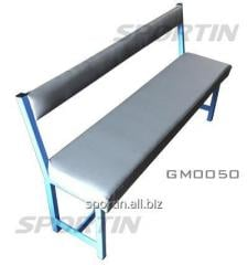 Bench for locker room with a soft covering