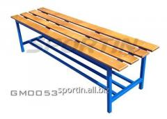 Bench for locker room without hanger