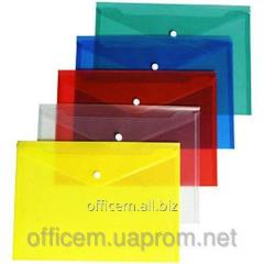 Envelope plastic, A4, on the button, F38301
