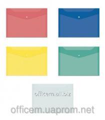 Envelope plastic, A4, on the button, transparent,