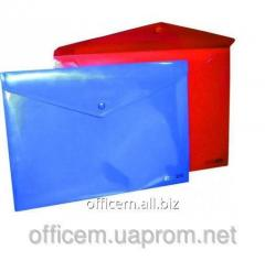 Envelope plastic, A4, on the button, black, 180