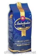 Coffee natural Ambassador Blue Label in grains (1