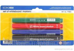 Set of markers for white boards, (4 pieces),