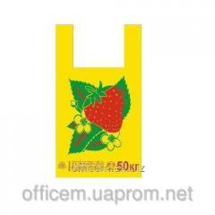 Plastic bags undershirt, STRAWBERRY (30*52, 30