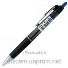 The handle is ball, blue, automatic, GRAND,