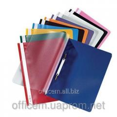 Folder plastic, A4, without perforation, blue,