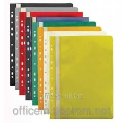 Folder plastic, A4, with perforation, yellow,