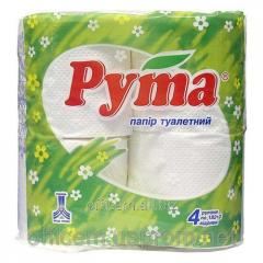 Туалетная бумага белая (4шт) Ruta Classic