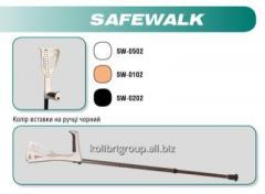 Safe gait - a crutch with an armrest black, color