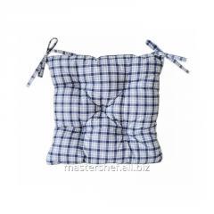 Подушка на стул 40*40 Синяя клетка