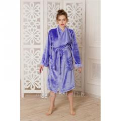 Dressing gown female knitted color of Rum (gray).