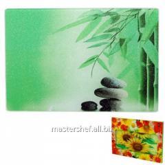 Glass chopping board of 30х40х0.5 cm (6) Green