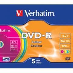 Disk DVD+R Verbatim 4.7Gb 16kh Color Slim