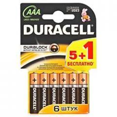 Batteries (battery) DURACELL LR3 (AAA) 6sht/upak