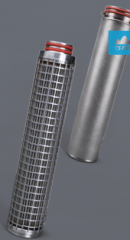 Filter cartridge from stainless steel, for water,