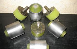 Vibrosieve shock-absorber vibration