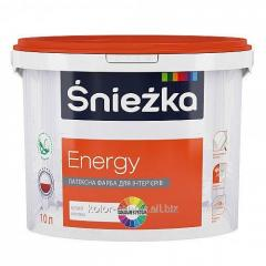 Opaque latex Sniezka Energy paint of 1.4 kg