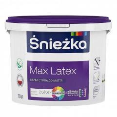 Матовая латексная краска Sniezka Max Latex 1.4 кг