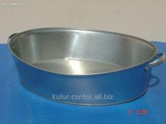 Basin of galvanized oval 27 l