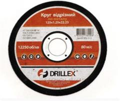 Cutting wheels on Drillex 115*1.2*22 metal