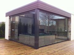 Система безрамная раздвижная для балконов, лоджий, беседок, террас