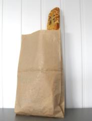бумажный пакет под багет (с полипропиленовым