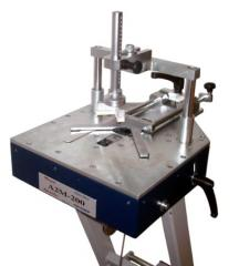 The machine for fastenings of corners of frame of