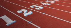 Track and field athletics tracks