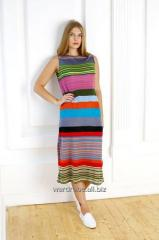 Dress of a direct silhouette in a contrast strip,