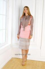 Dress with a collar frill