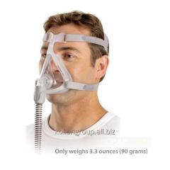 CPAP mask with the holder