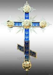 Prawosławny krzyż z symboli patriotycznych