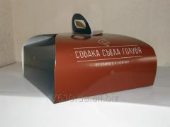 Box for cakes the size 290kh290kh100mm