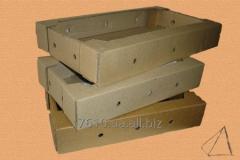 Pallets of corrugated cardboard