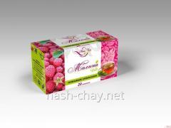 Black tea with the scent of raspberries