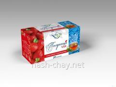 Black tea with flavor Strawberry