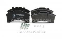 Brake shoes with remkomplekty MDP3032K-AM