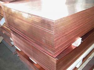 Leaf copper mm. 1,0*600*1500, from a warehouse,